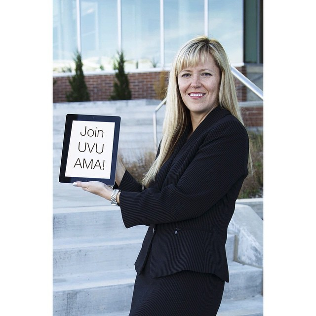 Paige Gardiner, our AMA advisor was awarded faculty of the year! 👏 and she wants YOU to be part of our club #uvuama