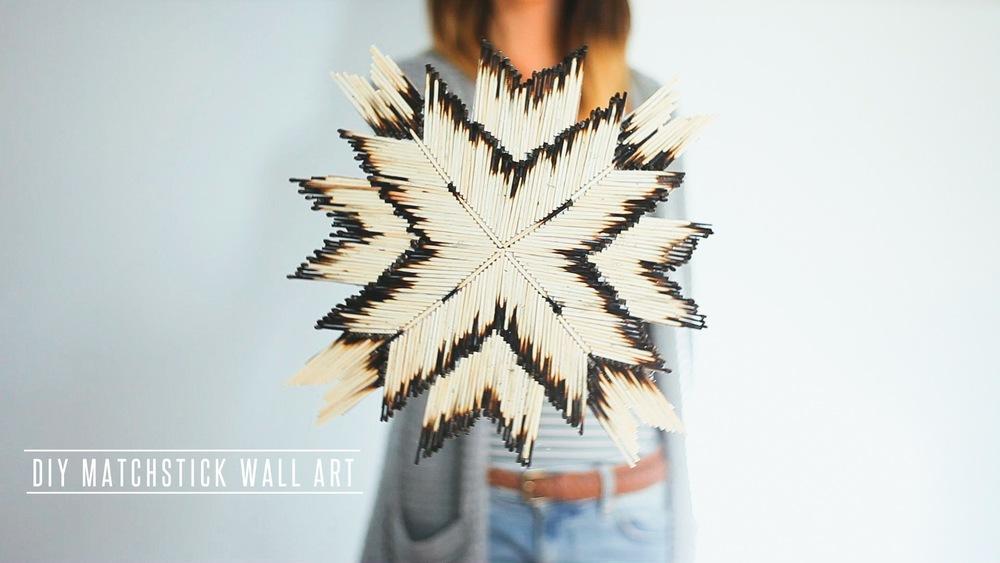 DIY Matchstick Wall Art Treasures Amp Travels