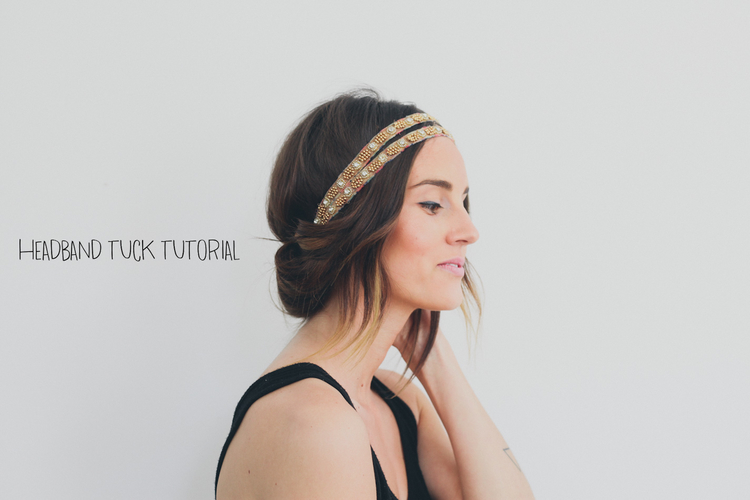 Hair Tutorial // Headband Tuck — Treasures & Travels