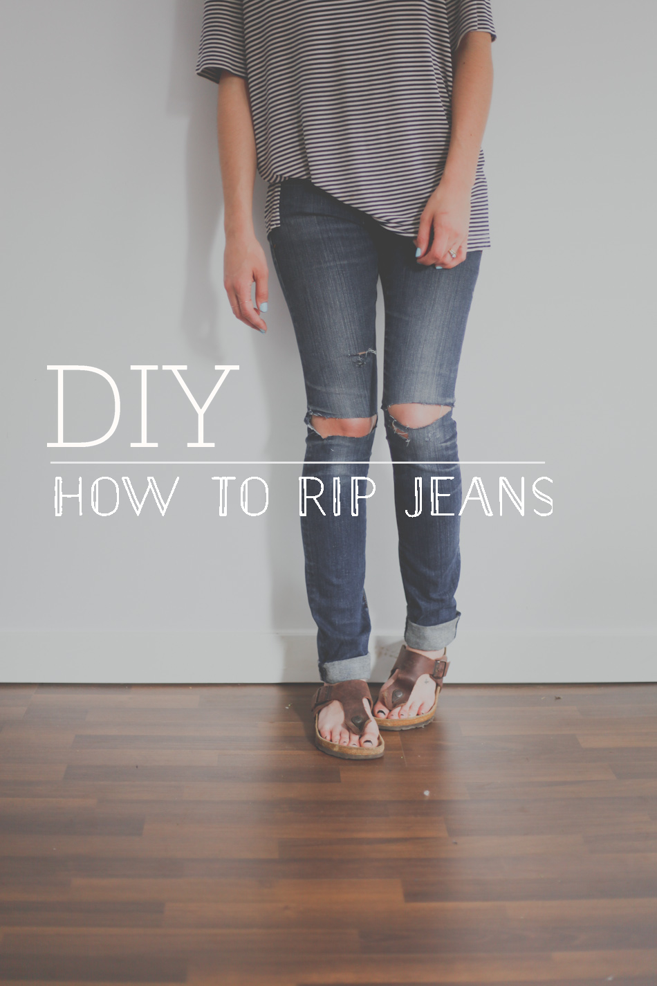 DIY // How to Rip Jeans — Treasures & Travels