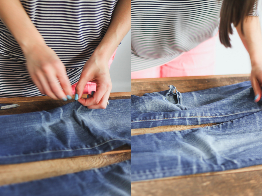DIY // How to Rip Jeans — Treasures &amp Travels