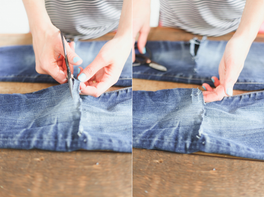 DIY // How to Rip Jeans u2014 Treasures u0026 Travels