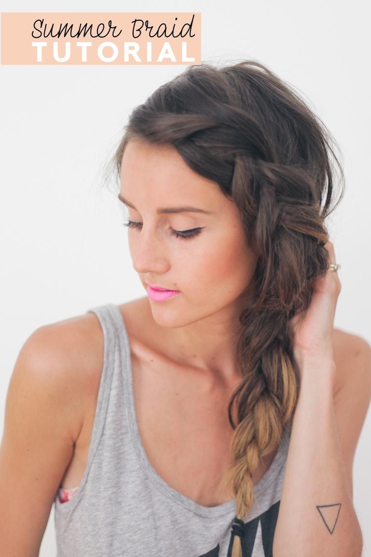 Hair Tutorial Thick Summer Braid Treasures Travels