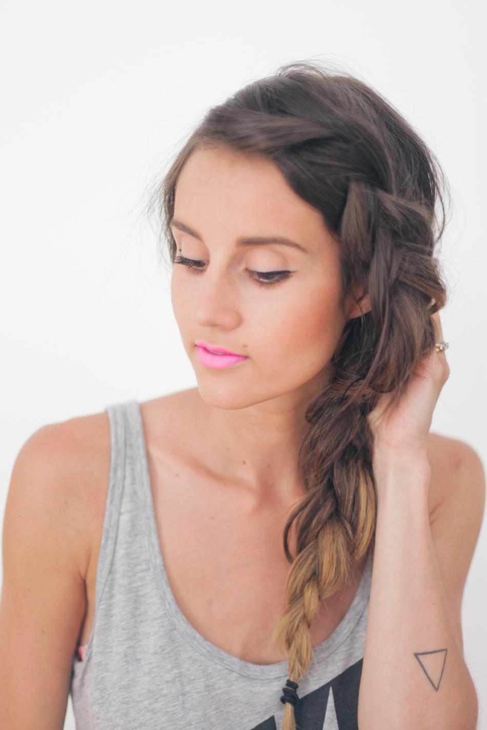 Surprising Hair Tutorial Thick Summer Braid Treasures Amp Travels Short Hairstyles For Black Women Fulllsitofus