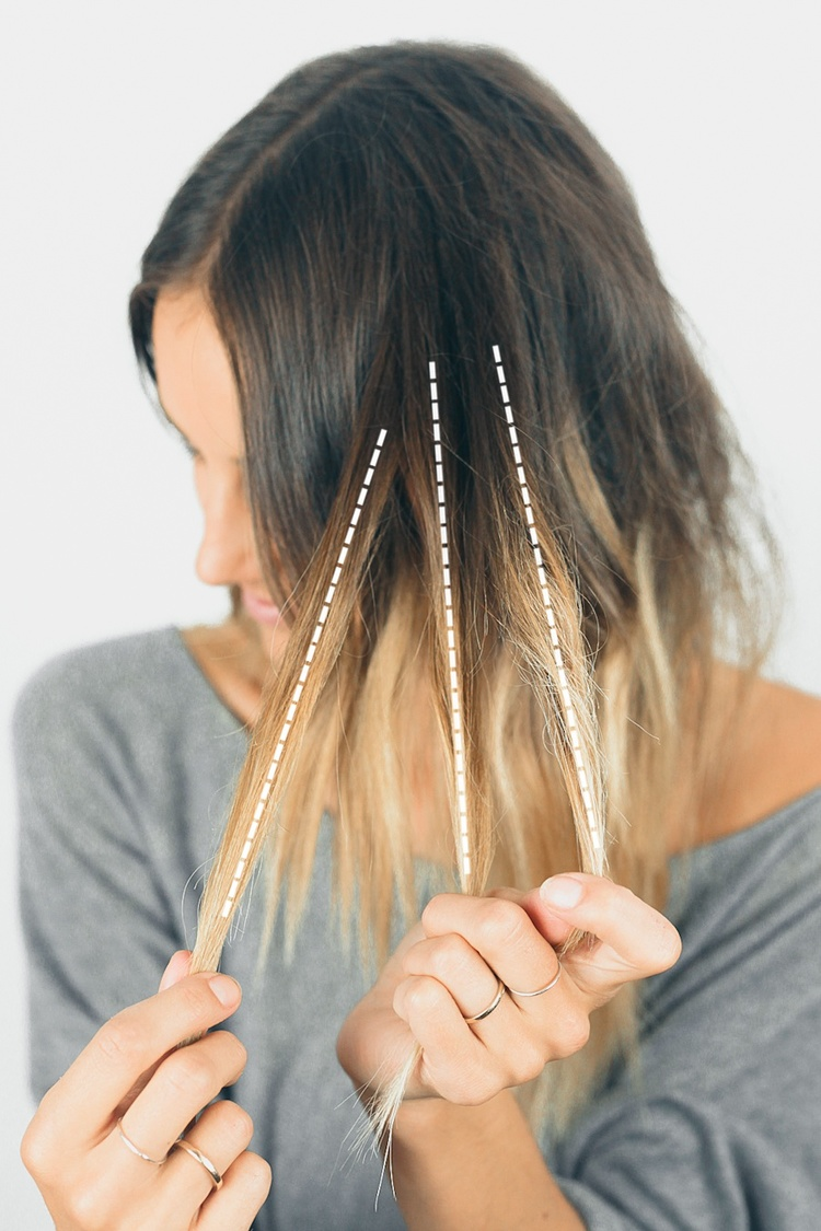 Hair tutorial boho braid treasures travels step 1 split a small section into 3 strands the way you would start a normal braid baditri Choice Image