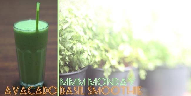 Avocado Basil Green Smoothie