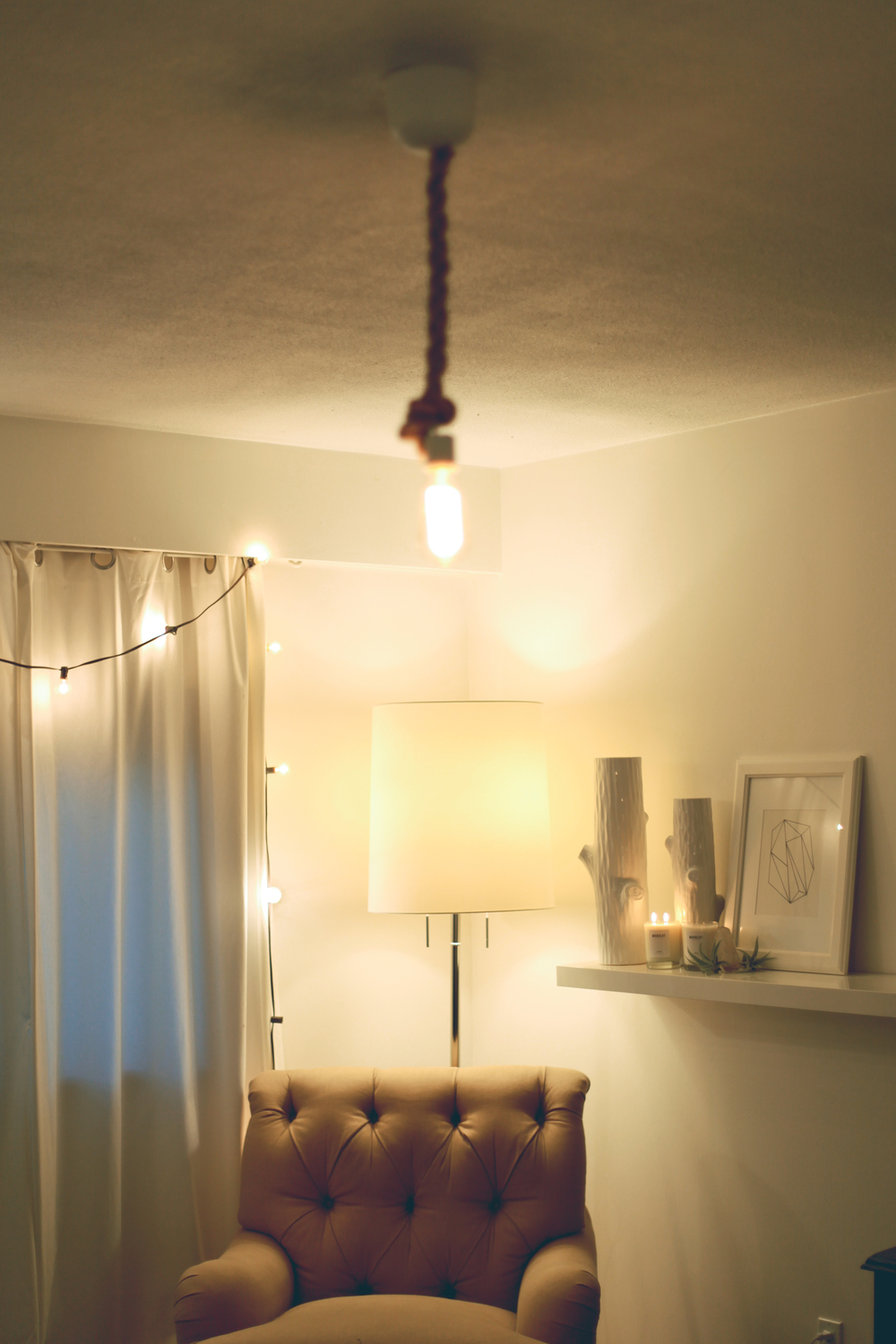 lighting treasures. It\u0027s Brighter Because Of The String Lights But Even Though Its Actually It Feels Much Warmer And Cozier Then Before! Lighting Treasures L