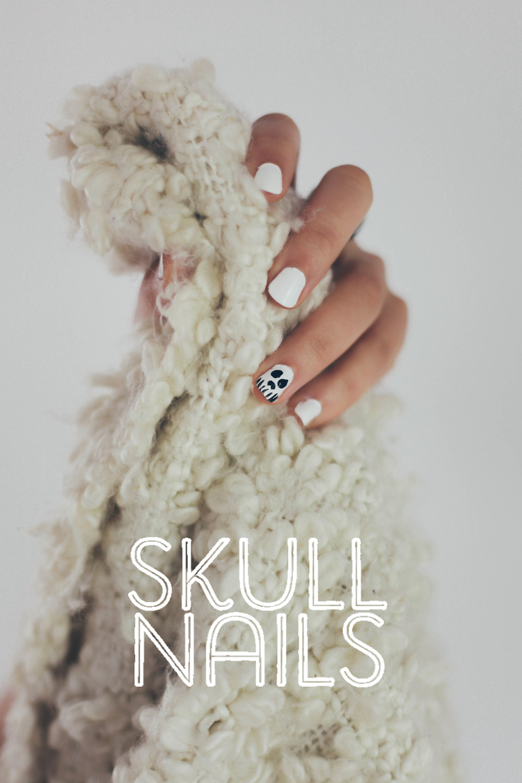 Nail Art Tutorial // Skull — Treasures & Travels