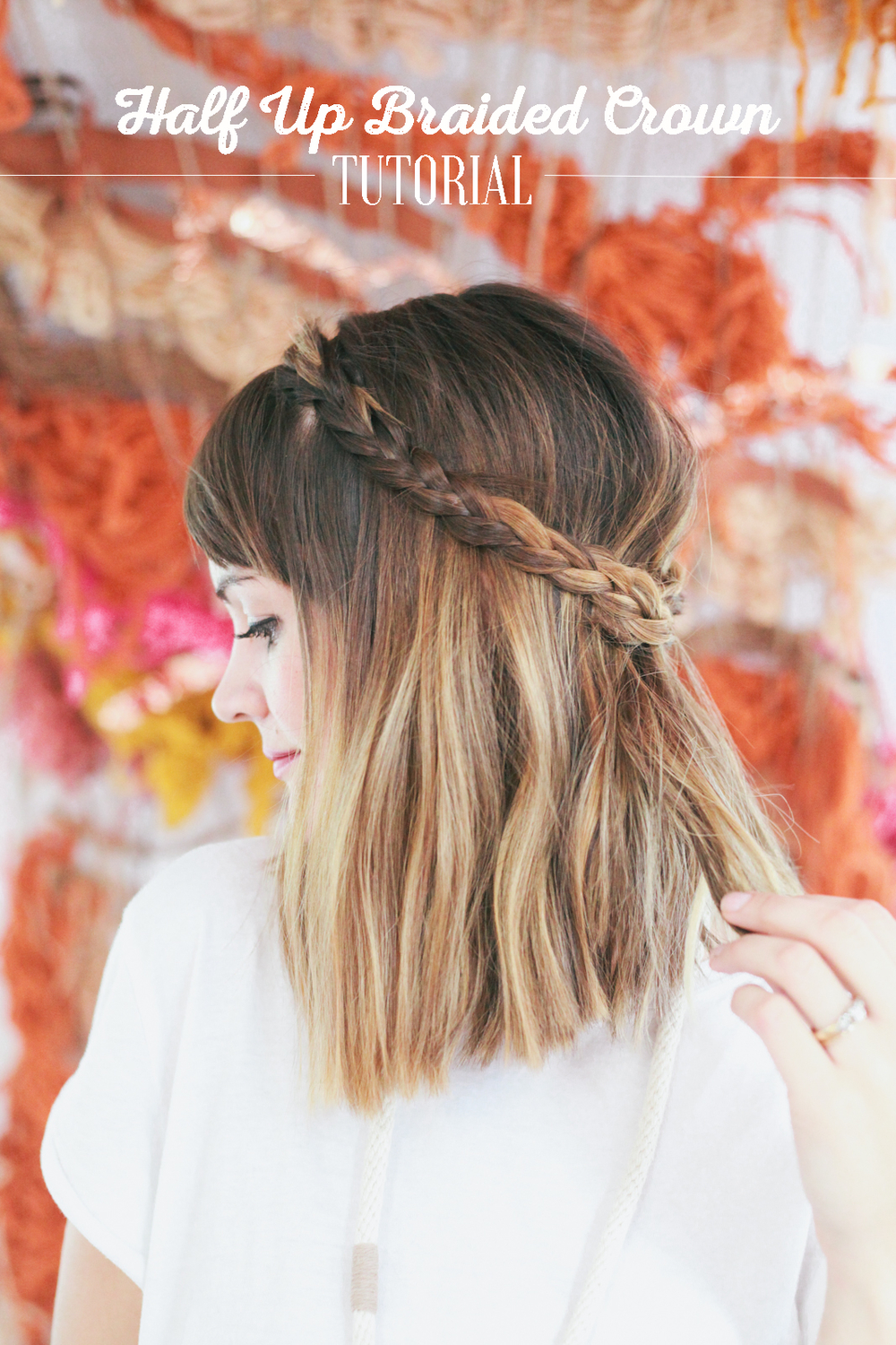 Half Up Braided Crown Tutorial