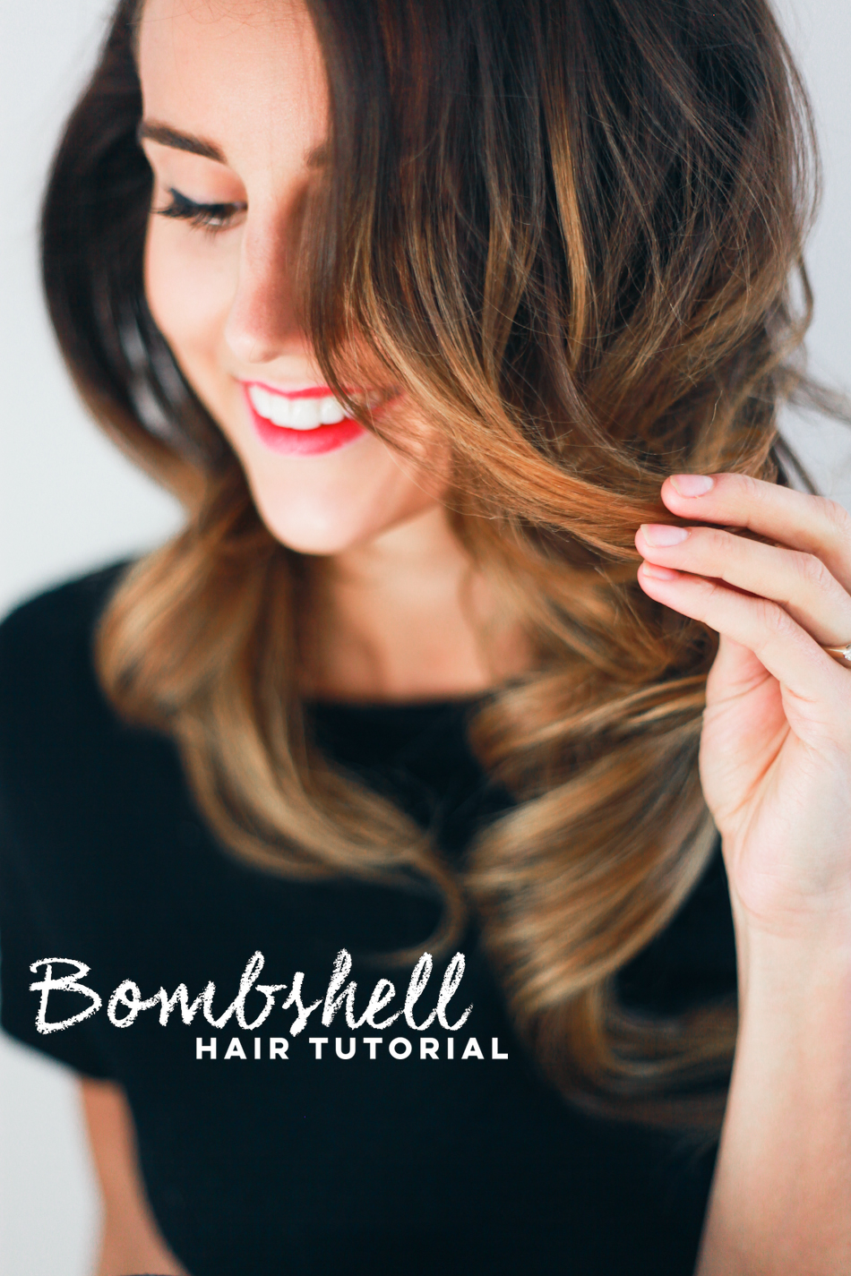 Holiday Hair Tutorial Bombshell Curls Treasures Travels