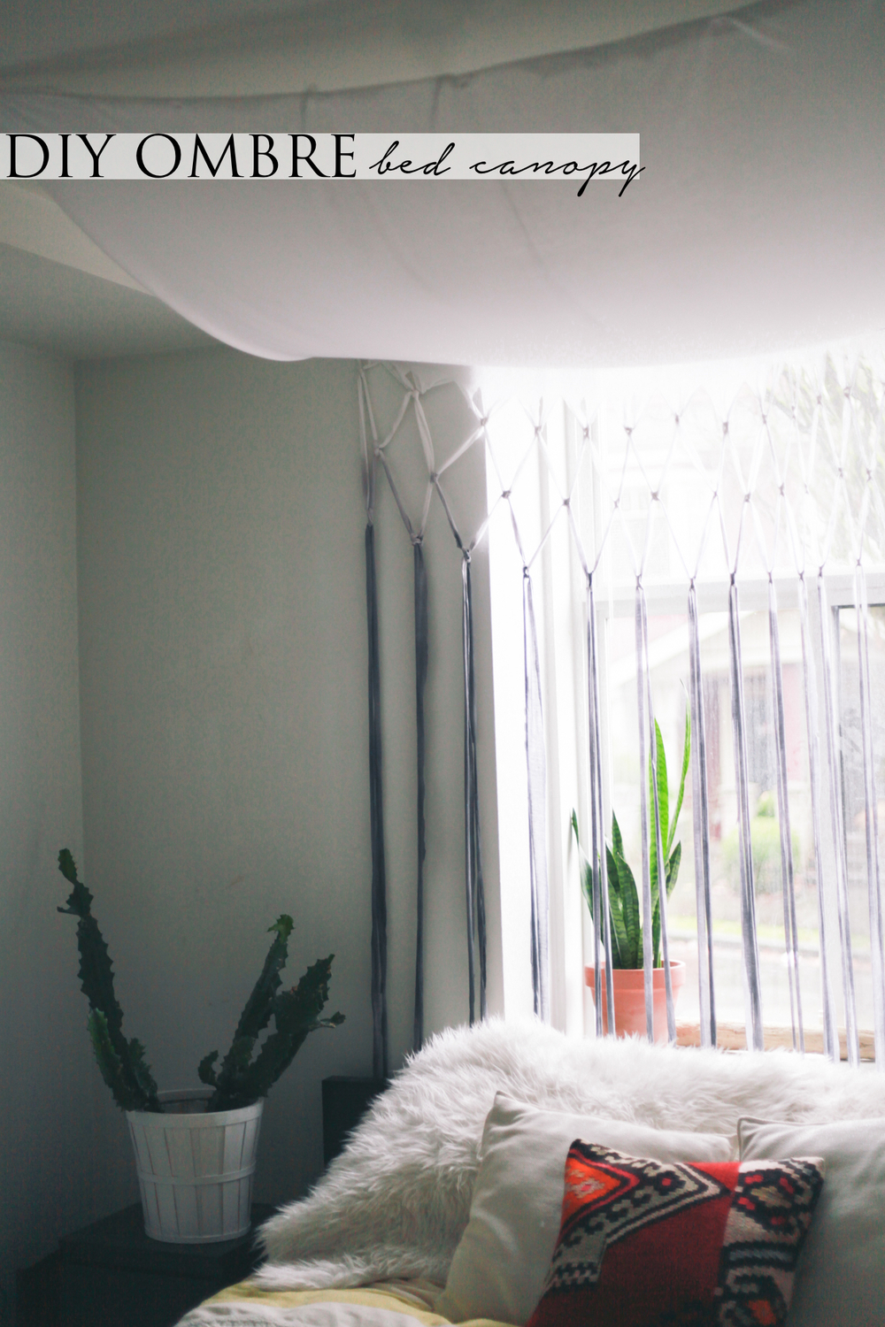 DIY // Ombre Bed Canopy & DIY // Ombre Bed Canopy u2014 Treasures u0026 Travels
