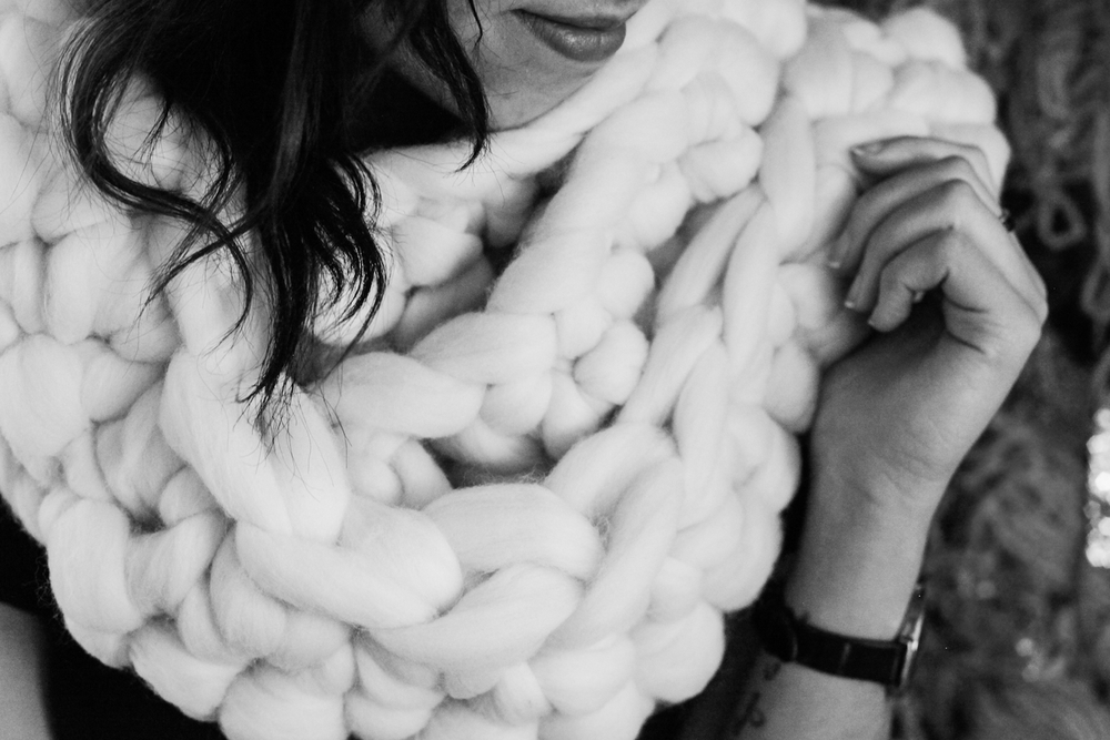 DIY Chunky Wool Scarf Read >