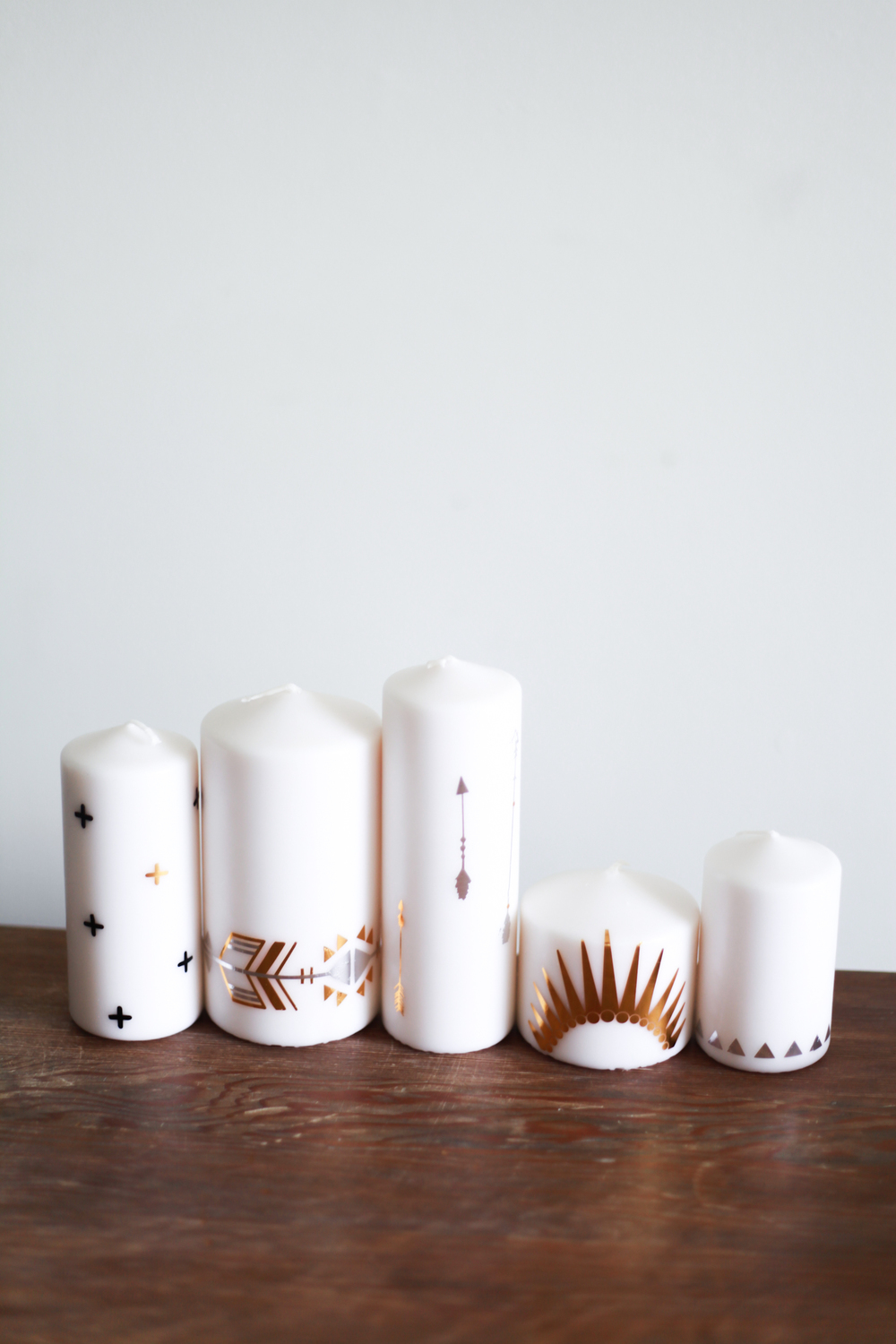 DIY Metallic Tattoo Candles Read >