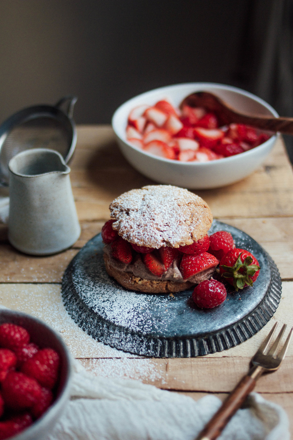 Shortcakes with Coconut Cream