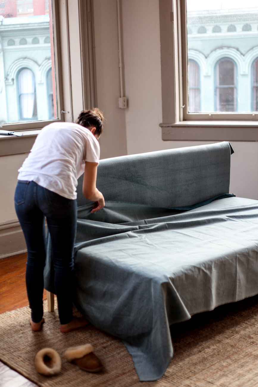 diy ikea hacks 5 easy steps to make your own ikea couch treasures travels. Black Bedroom Furniture Sets. Home Design Ideas