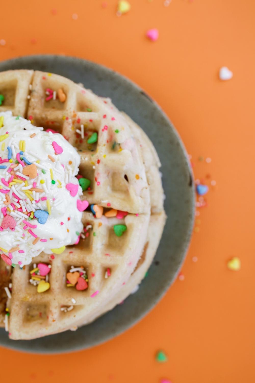 Birthday Cake Waffles Treasures Travels