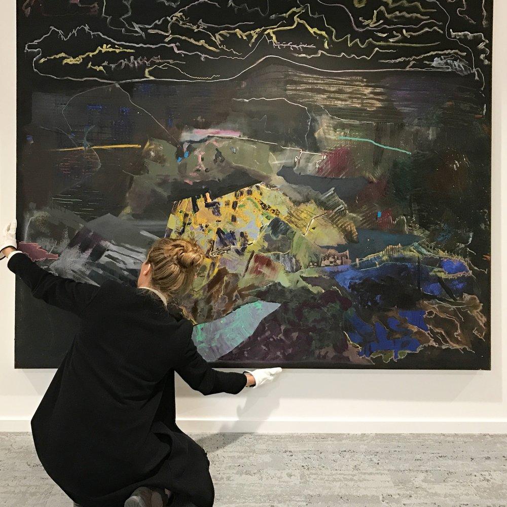 "Fabian Tholin - ""Eclipse"" 180 x 200 cm, Olja och oljekrita på duk"