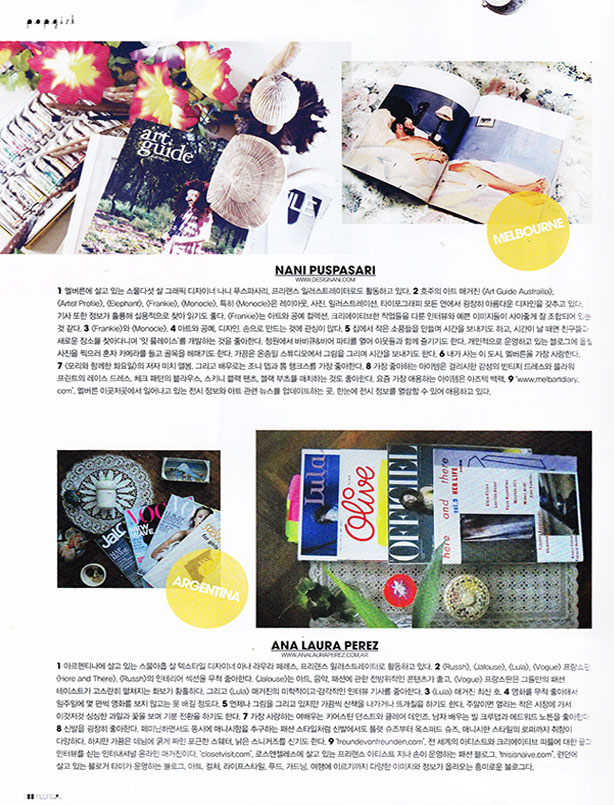 2012  Magazine ,  ELLEgirl Korea May12 p.88