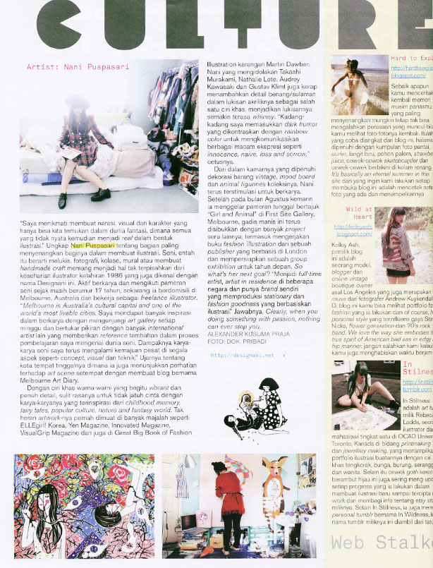 2011  Magazine ,  Nylon Indonesia ed.December11 p.64