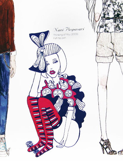 2011  Book ,  Great Big Book of Fashion Illustration by Martin Dawber p.106, 143, 189, 214, 312
