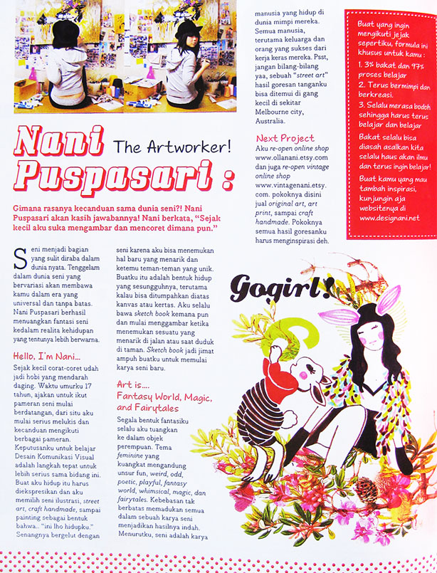 2011  Magazine,    GOGirl! Indonesia ed.February11 p.84