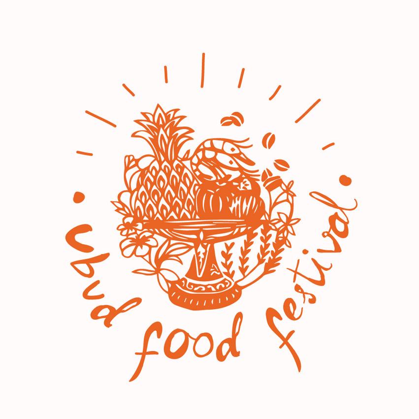UBUD FOOD FESTIVAL   Ubud food festival , logo