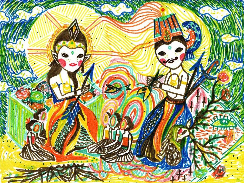 MARKER   illustration, colourful