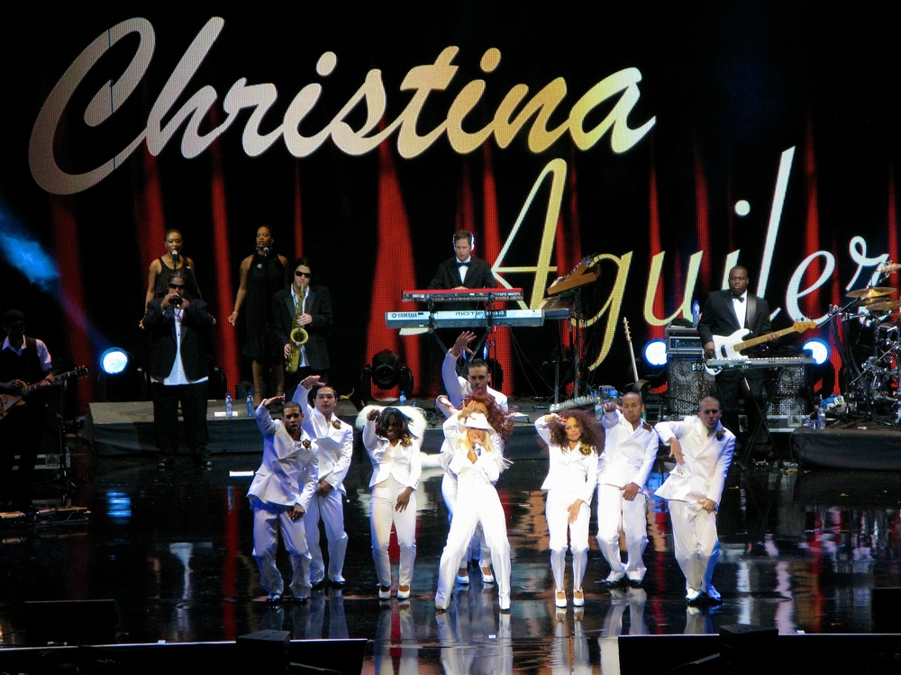 Christina Aguilera at Africa Rising, Albert Hall 2008