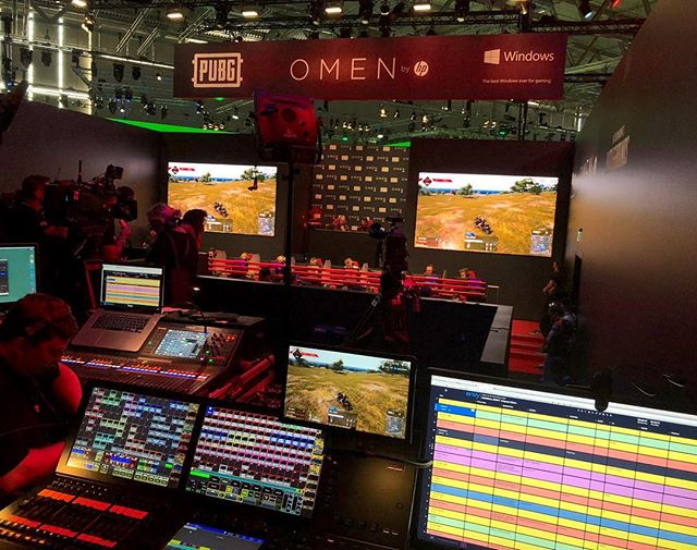 PUBG Omen Challenge at GamesCom using ShoFlo . . . #pubg #omenchallenge #gamescom2018 #colognegermany #grandMA2 #shoflo #shoflotv #showcaller #showcalling #showcall #showproducer #showdirection