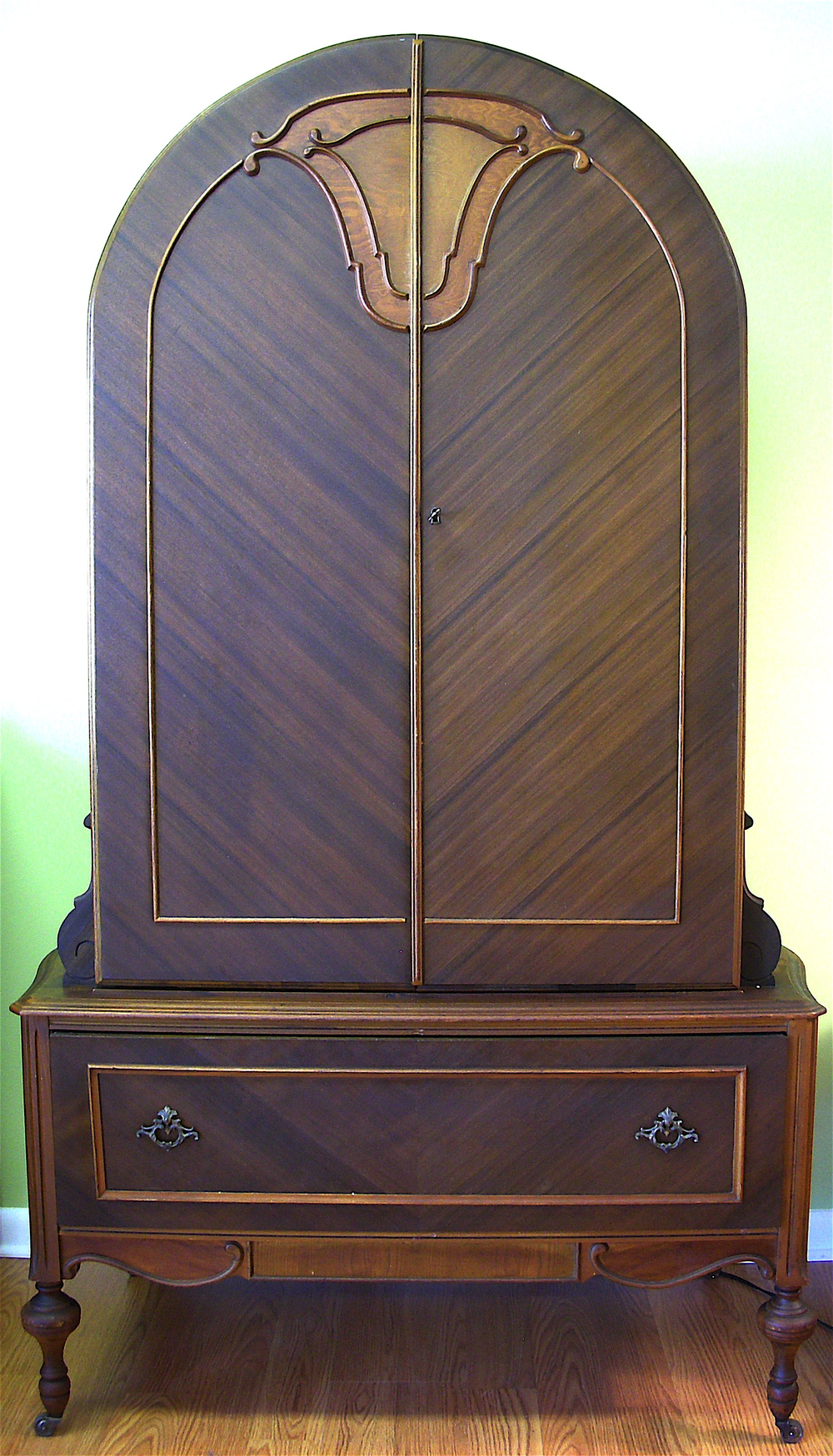 Deco Armoire with cedar drawer/chest (A) (SOLD)