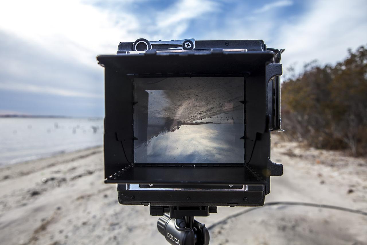 Large format camera.