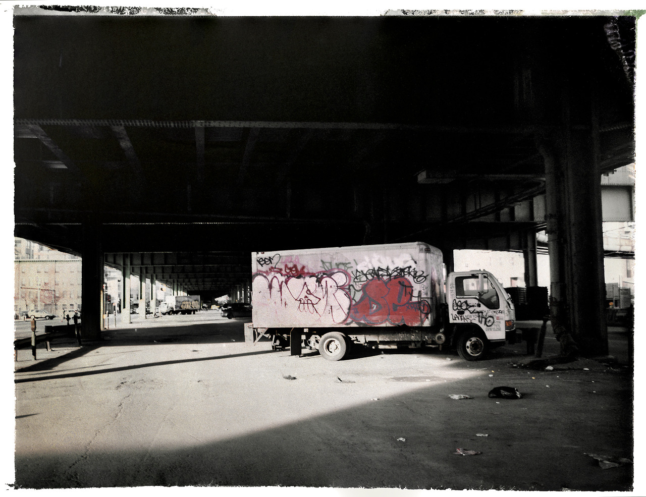 Red Hook, Brooklyn.  Handmade Polaroid camera