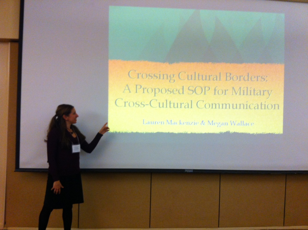 Dr. MacKenzie presenting at TheMilitary Sociology Division of the Eastern Sociological Society Conference, February 2015