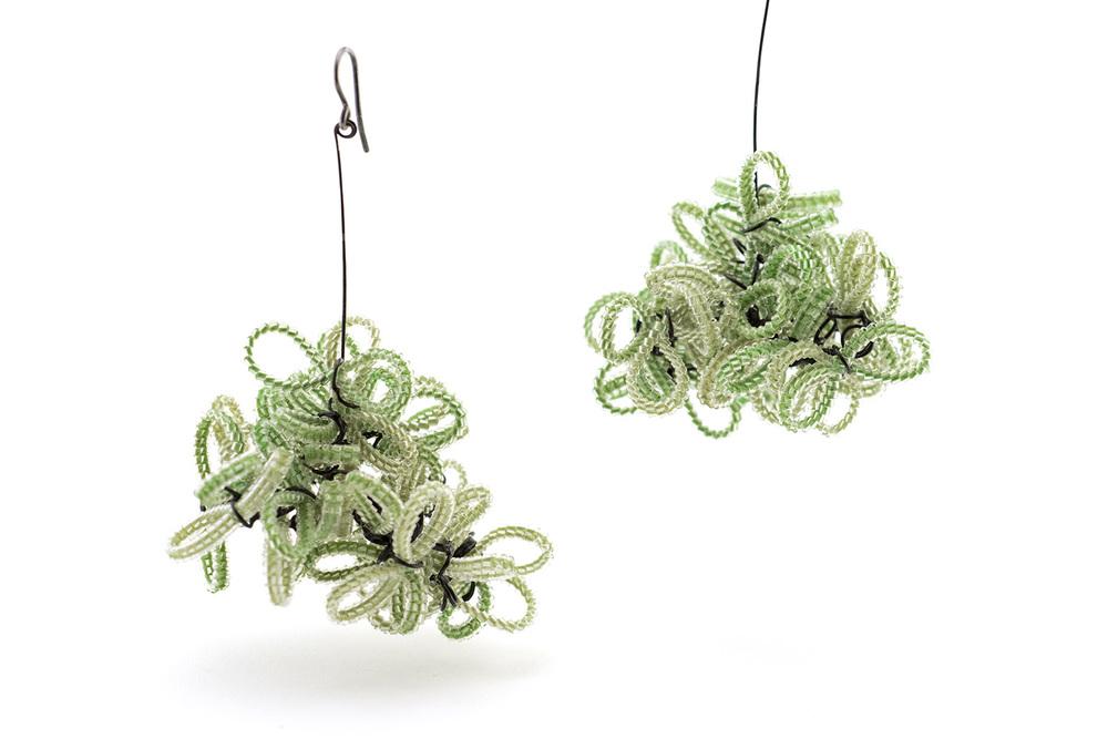 Green Shrub Earrings