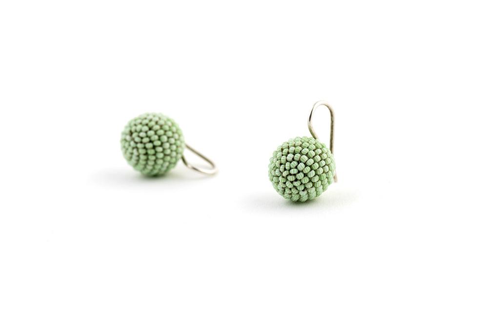 Green Stripe Ball Ears