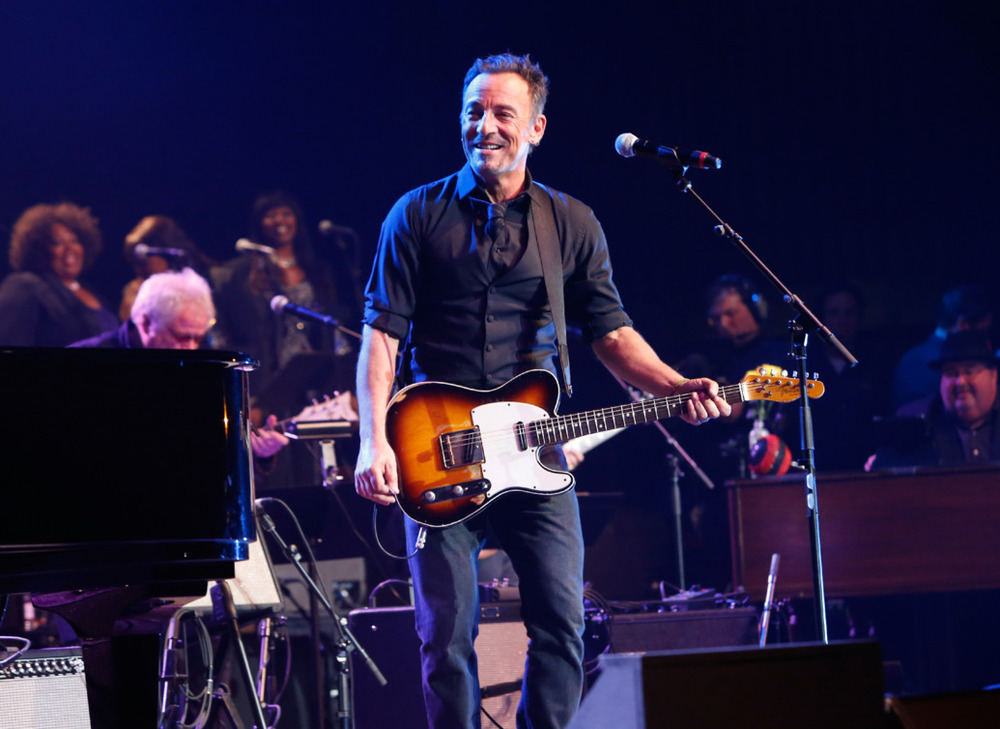 Bruce Springsteen performs The Musical Mojo of Dr. John: A Celebration of Mac & His Music.  Skip Bolen/Getty Images