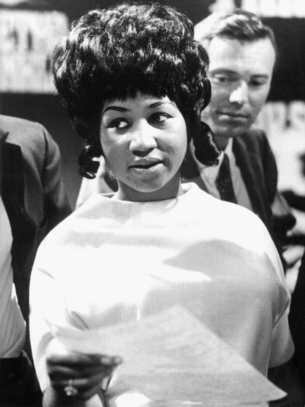 Cologne Recording (1968) Aretha Franklin in rehearsals at a Cologne studio for a European TV show.   DPA/MEDIAPUNCH