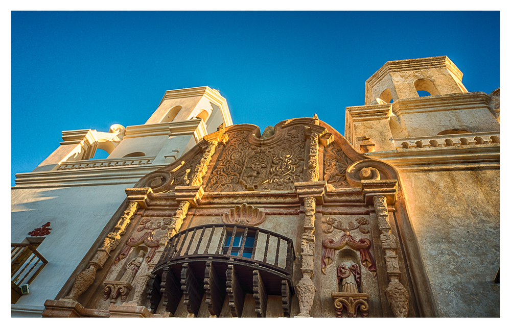 The front of San Xavier.