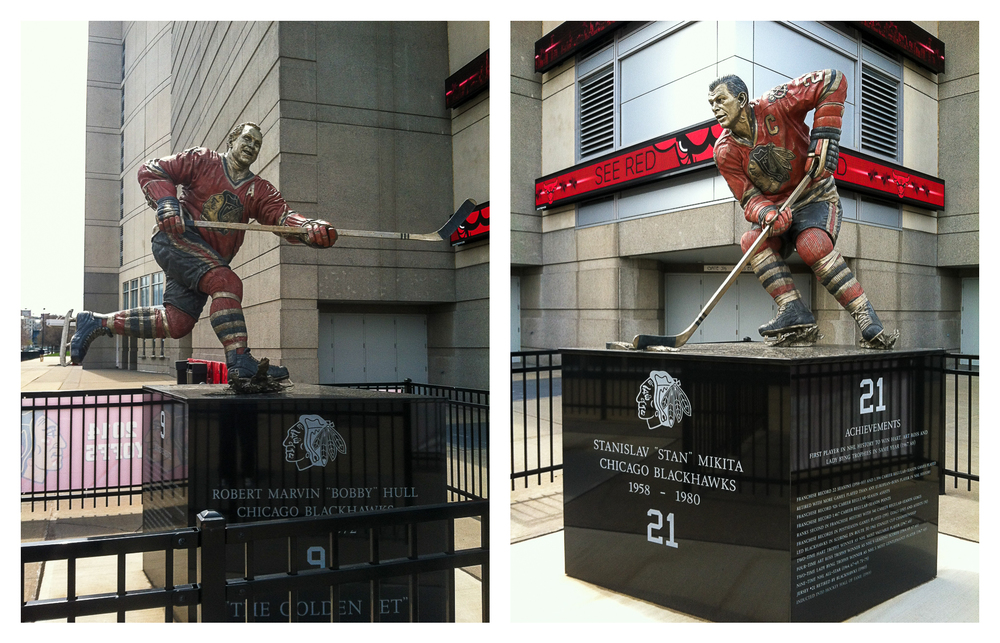 A couple Blackhawks from the past.