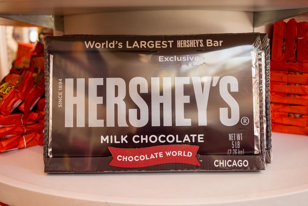 Biggest Hershey bar I have ever seen.