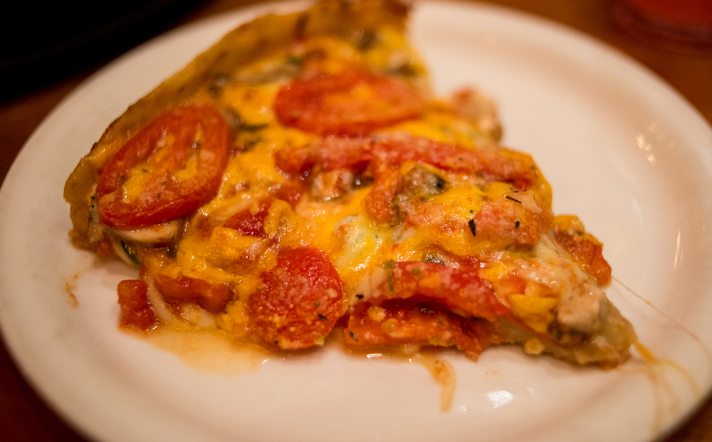 Amazing pizza from Lou Mainati's
