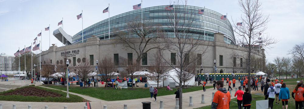 Panoramic of Soldier Field