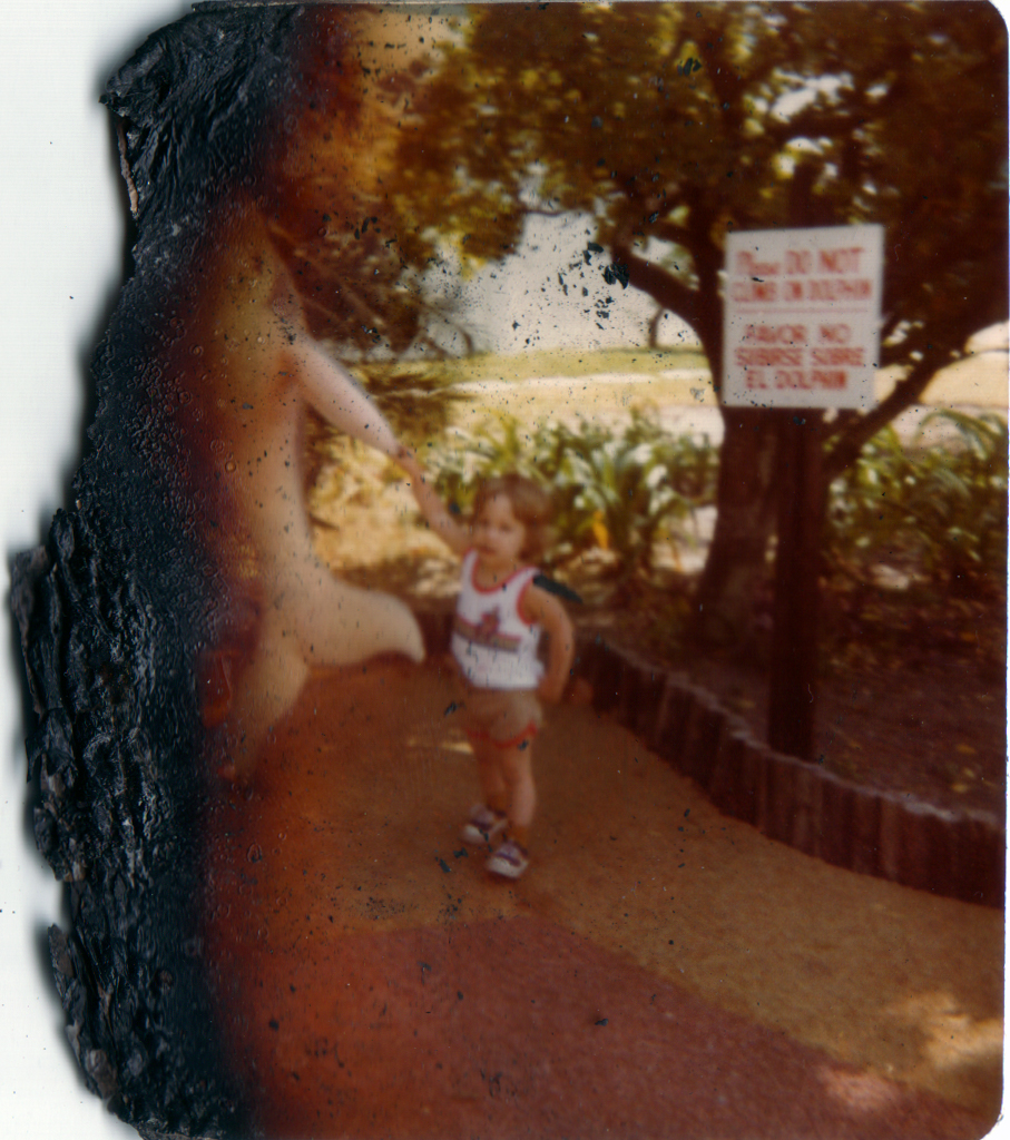 Survivor from the fire. Me at Sea World in Florida.