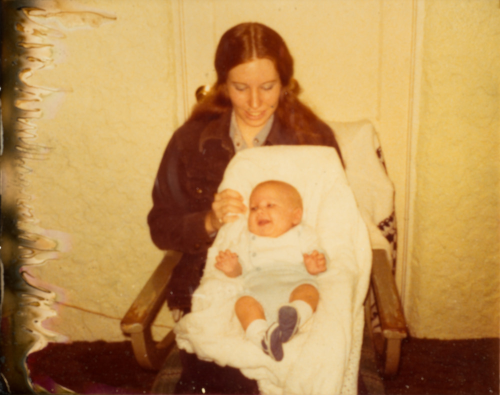 A survivor from the fire. My mom and me.