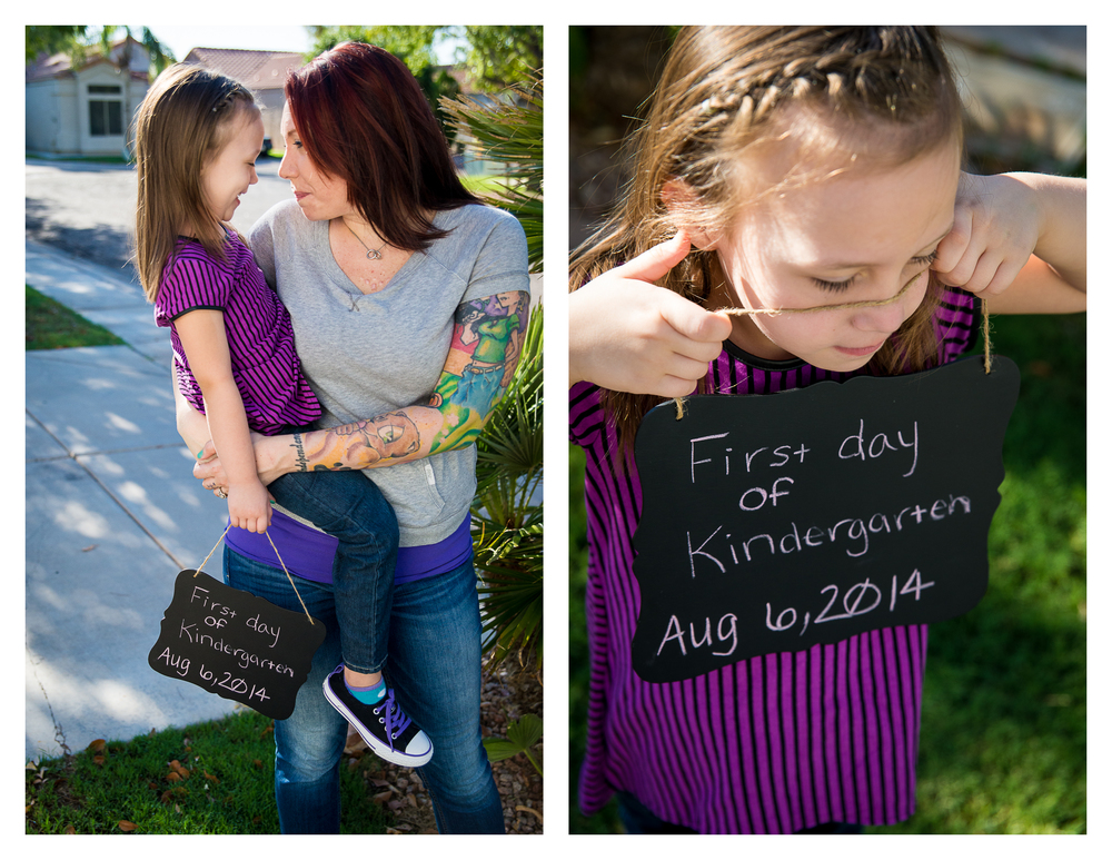 My sister and Niece on the first day of Kindergarten.