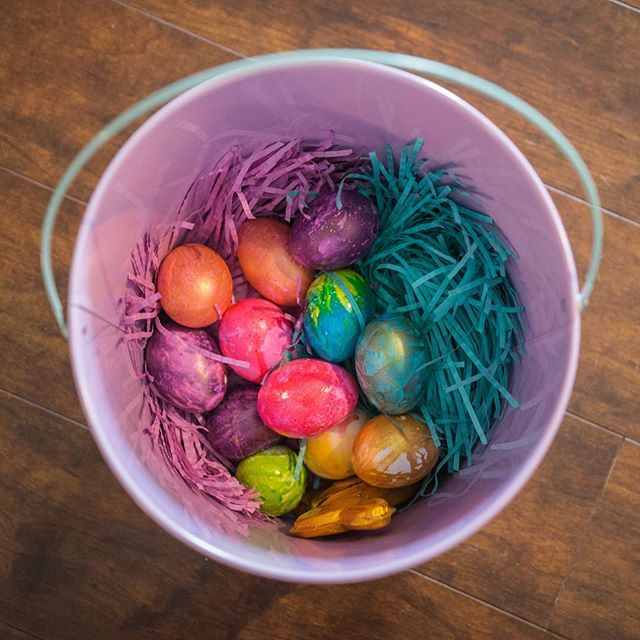 Happy Easter and Stuff.  Found the bucket of eggs a bunny pooped in. #easter #easterbasket #raymondvestalphotography #nikon