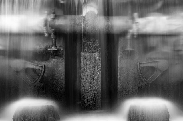 "The Abstract Flow of Gears. This fun 12"" x 18"" abstract image printed on metallic paper available for sale.  Message me for pricing and details. Can you guess where this was captured? #water #waterfall #gears #abstract #movments #blackandwhite #nikonusa #sigmaphoto #vanguardworld #slowshutter #raymondvestalphotography"