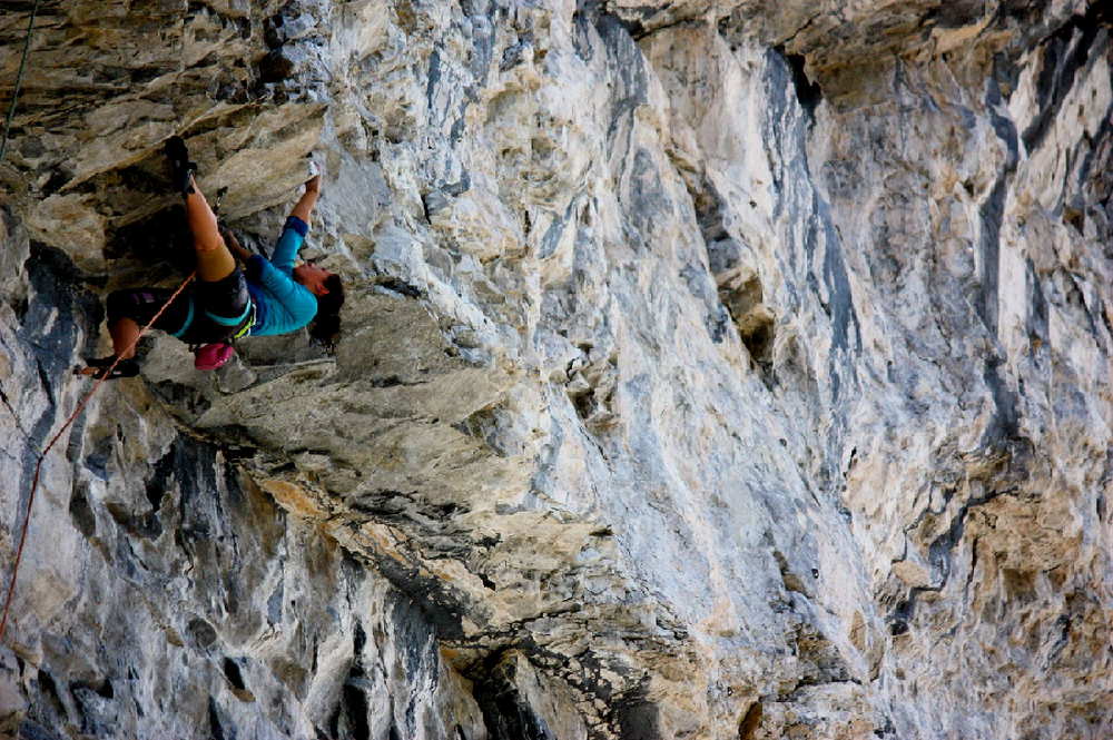 Me on Spicy Elephant, working through the crux sequence. Photo Cred: Roger Fage