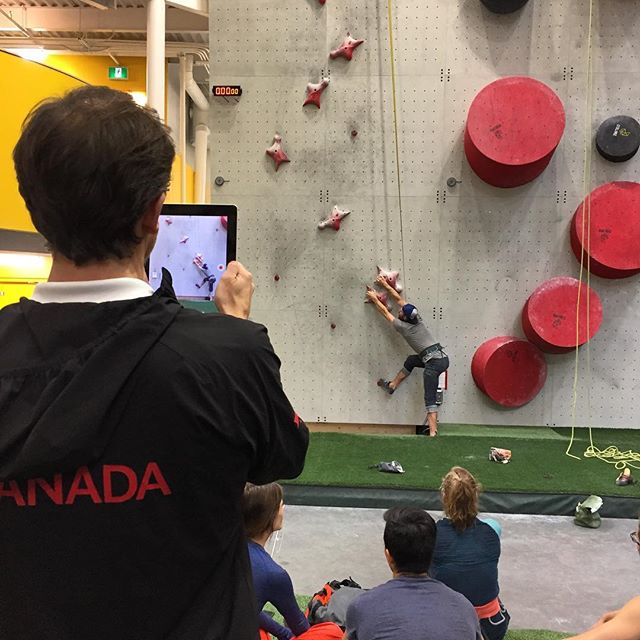 Teach, practice, analyze! The @canadastrongclimbing Coaching Conference bringing coaches from all over North America to build the future Climbing stars. We're psyched to get a glimpse of the action. #climbing #bouldering #coaching #speedclimbing #flashedclimbing #highfrictionday #climbfreeclimbfearlessly
