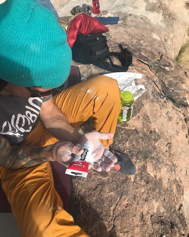Here's Flashed Athlete @dmkrocks making sure he's going to have a #highfrictionday using our Podium Liquid Chalk which is also part of our Competition Series Program. To learn more visit flashed.com/blog ⠀ ⠀ 📸 Mandy Kroetsch⠀ ⠀ #flashed #flashedclimbing #climbing #bouldering #flashedpodium #movewithconfidence #climbfreeclimbfearlessly